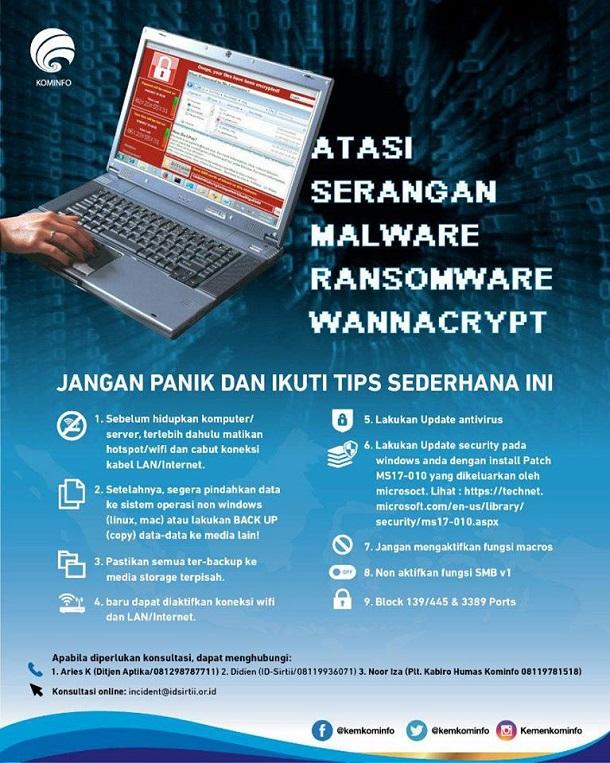 Cara Mencegah Dan Mengatasi Ransomware WannaCrypt (WannaCry) Menginfeksi Komputer